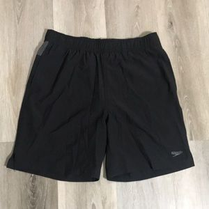 Speedo Black Tech Volley Shorts UPF Protection Size Small